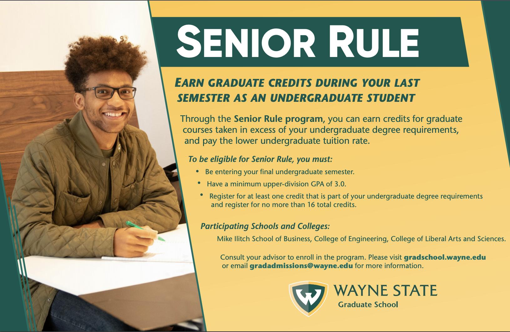 Accelerated Programs Agrade Graduate School Wayne State University